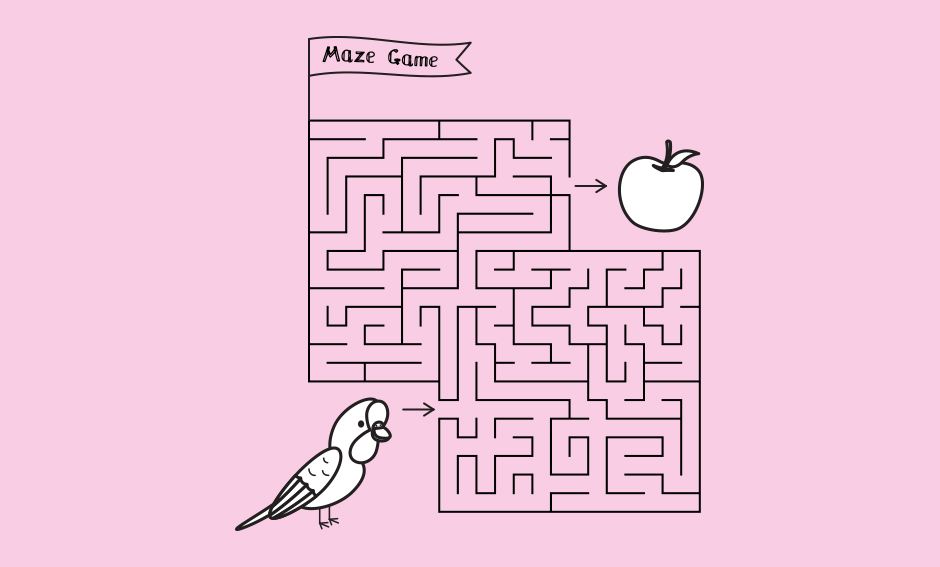 Parrot Maze Game